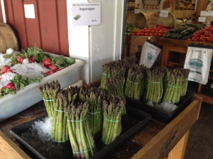 Wilson Farm's fresh cut asparagus in Litchfield.