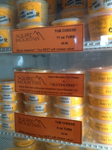 Maine's Squire Mountain tub cheese available at Wilson Farm in Litchfield.