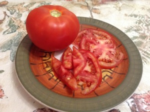 A June Tomato from Ledge Top Farm in Wilton. Juicy and Flavorful.