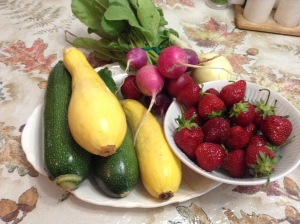 This is what I picked up at the Nashua Farmer's Market on 6/21/15